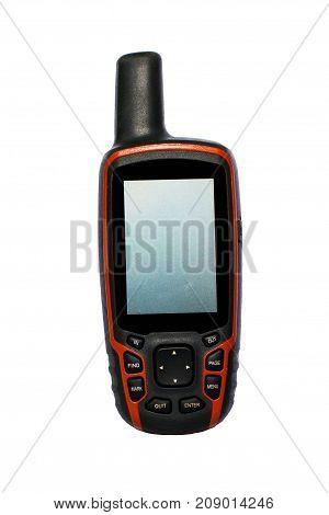 Macro photo of GPS isolated on white