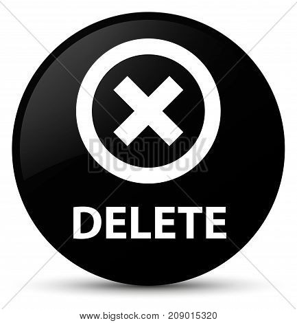 Delete Black Round Button