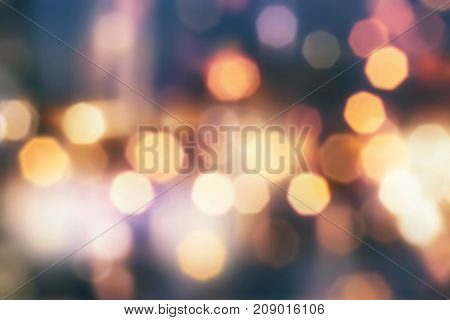 Image of colorful defocused light for background