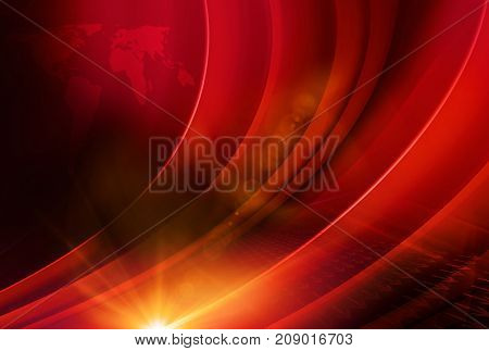Hot news abstract background suitable for expanding or publishing news concept. 3d Illustration 3d render