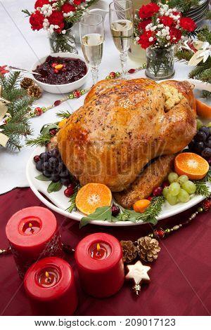 Roasted Turkey For Christmas Dinner