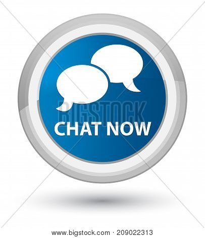 Chat Now Prime Blue Round Button
