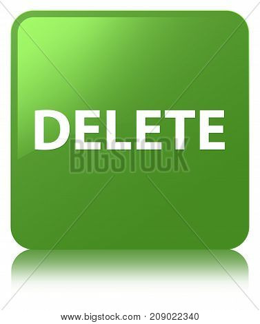 Delete Soft Green Square Button