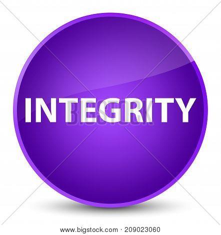 Integrity Elegant Purple Round Button