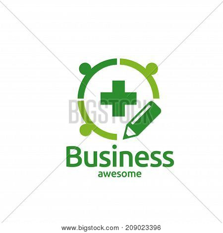 community Health Connect People shape vector logo