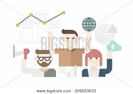 Cute Modern Business People