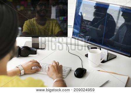 A web developer is writing a program