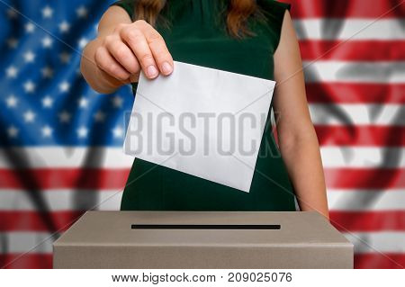 Election In Usa - Voting At The Ballot Box