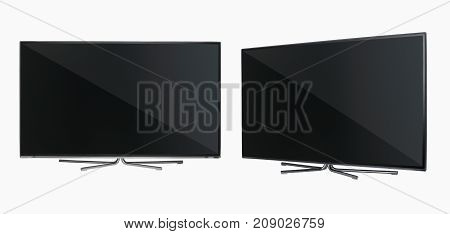 Tv On White Background