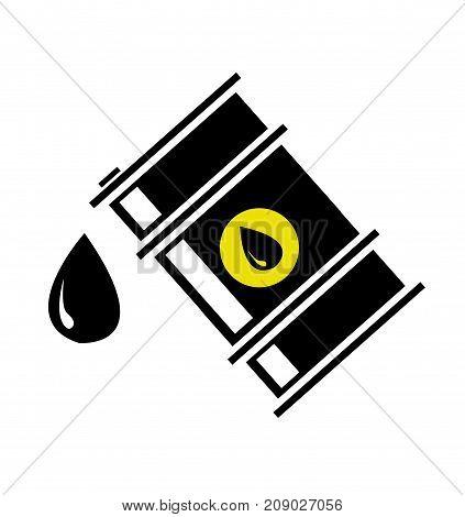 illustration of oil barrel on white background