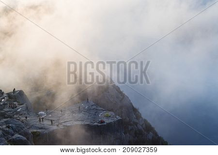 Fog and people