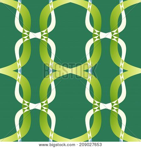 Green modern abstract texture. Simple background illustration. Textile print pattern. Home decor fabric design sample. Seamless tile. Tileable motif for pillow,s cushions, tablecloths, wrapping paper.
