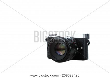 compact modern camera isolated with white background