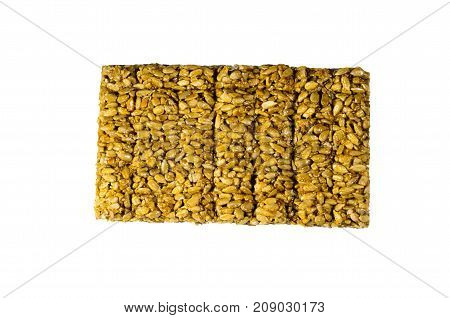 Brittles With Sunflower Seeds Isolated On White