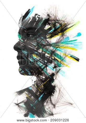 Unique artistic effect brings portraiture and hand drawn painting techniques together