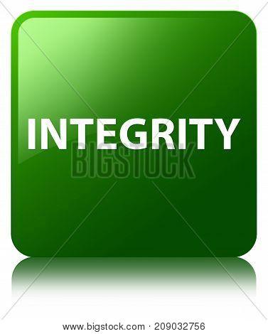 Integrity Green Square Button