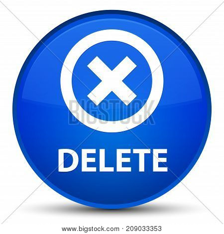 Delete Special Blue Round Button