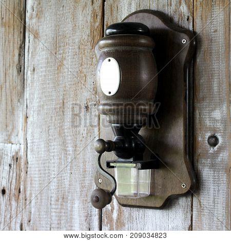 Vintage Wooden Coffee Grinder