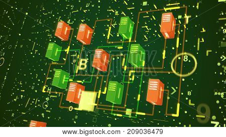 Diagonal Big Data Transfer Process
