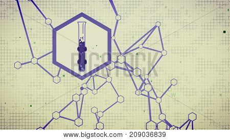 Abstract Chemical Laboratory Background