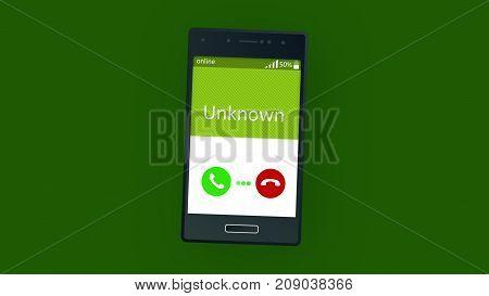 Stranger Phone Calling Animation