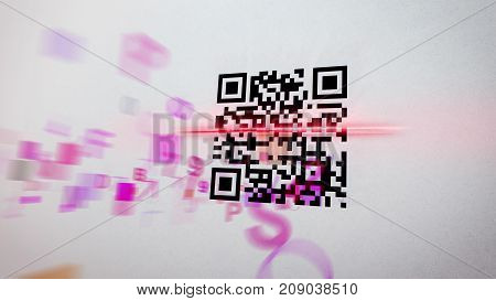 Hazy Qr Code Scanner Illustration