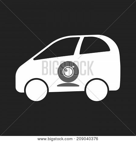 Isolated Electric Car With A Web Cam