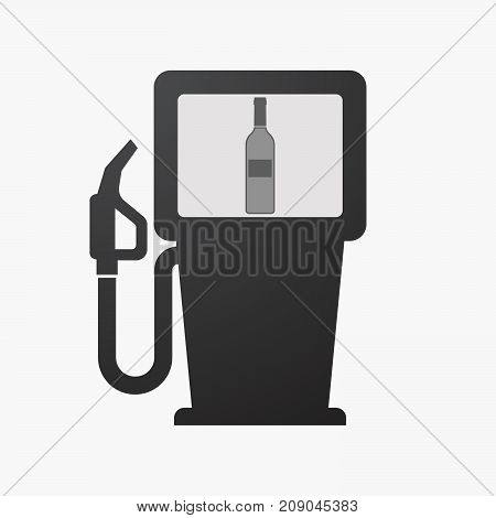 Isolated Fuel Pump With A Bottle Of Wine