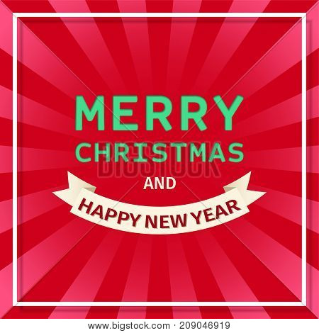 christmas background merry christmas and new year banner xmas backdrop vector illustration