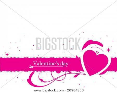 Valentines Day with heart label vector illustration