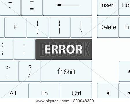 Error Black Keyboard Button