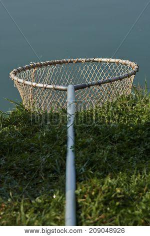 Fishing Net At The Lake