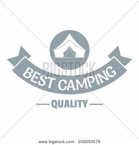 Best quality camp logo. Vintage illustration of best quality camp vector logo for web