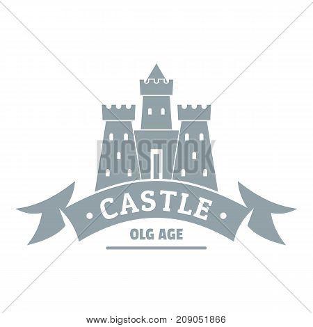 Royal castle logo. Simple illustration of royal castle vector logo for web