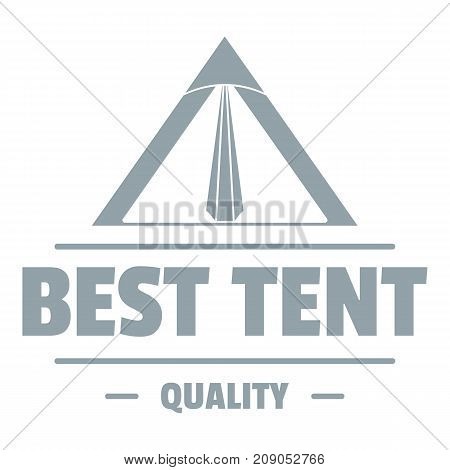 Quality tent logo. Vintage illustration of quality tent vector logo for web