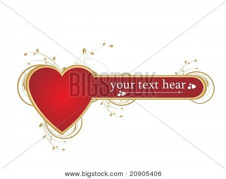 vector illustration of red heart valentines day background
