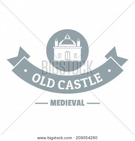 Old castle logo. Simple illustration of old castle vector logo for web
