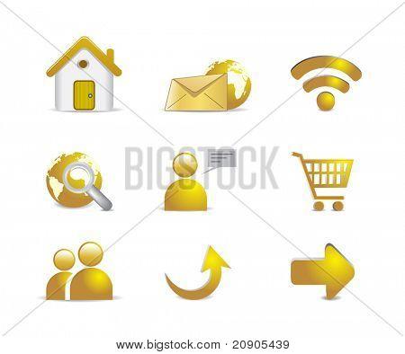 internet icons vector illustration