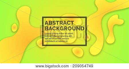 Abstract bright background with yellow splashes and word design. Vector illustration in simple minimalist style
