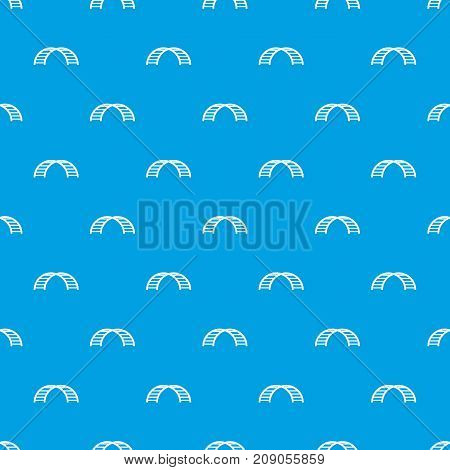 Climbing stairs pattern repeat seamless in blue color for any design. Vector geometric illustration