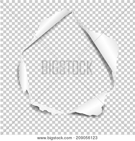 Torn Paper Isolated In Transparent Background