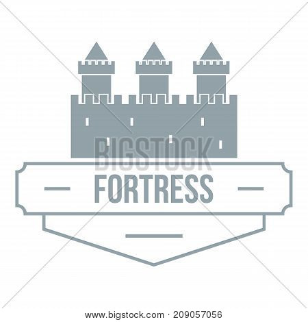 Luxury fortress logo. Simple illustration of luxury fortress vector logo for web