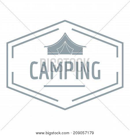 Camping shield logo. Vintage illustration of camping shield vector logo for web