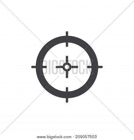 Aim icon vector, filled flat sign, solid pictogram isolated on white. Target symbol, logo illustration.