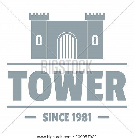 Luxury tower logo. Simple illustration of luxury tower vector logo for web