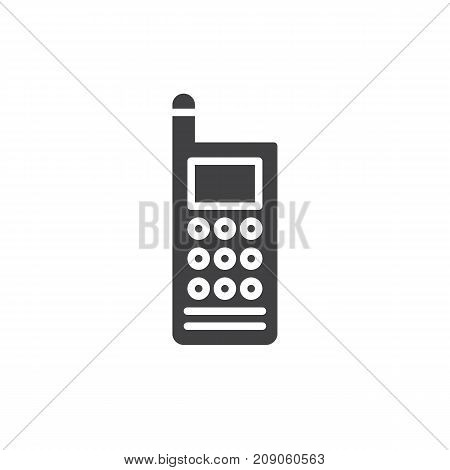 Walkie talkie icon vector, filled flat sign, solid pictogram isolated on white. Portable two-way radio transceiver Symbol, logo illustration.