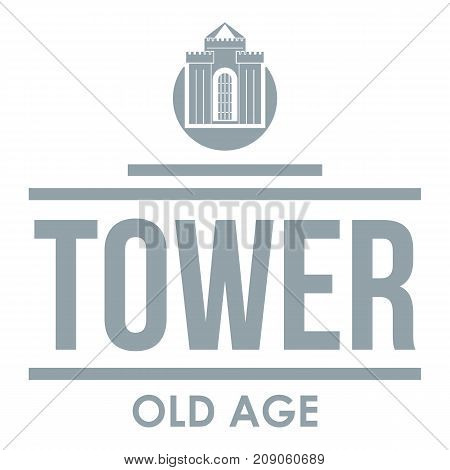 Tower old age logo. Simple illustration of tower old age vector logo for web