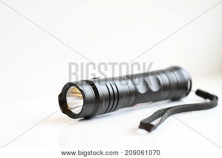 Manual Black Flashlight, Reliability, Quality, Shine