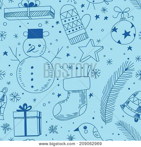 Doodle Christmas Pattern