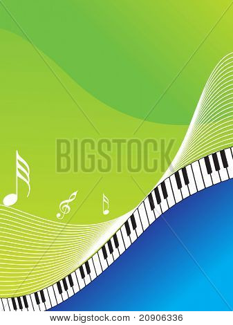 vector illustration of musical abstract background